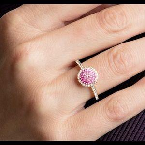 Swarovski No Regrets Pave Crystal Ring Size 7